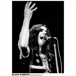 Black Sabbath - Ozzy Osbourne Holland 1971 - Poster