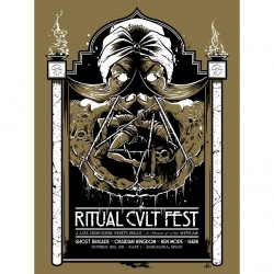 Ghost Brigade - Ritual Cvlt Fest (brown) - Screenprint