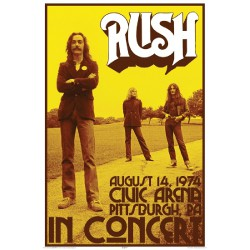Rush - Live 1974 - Poster